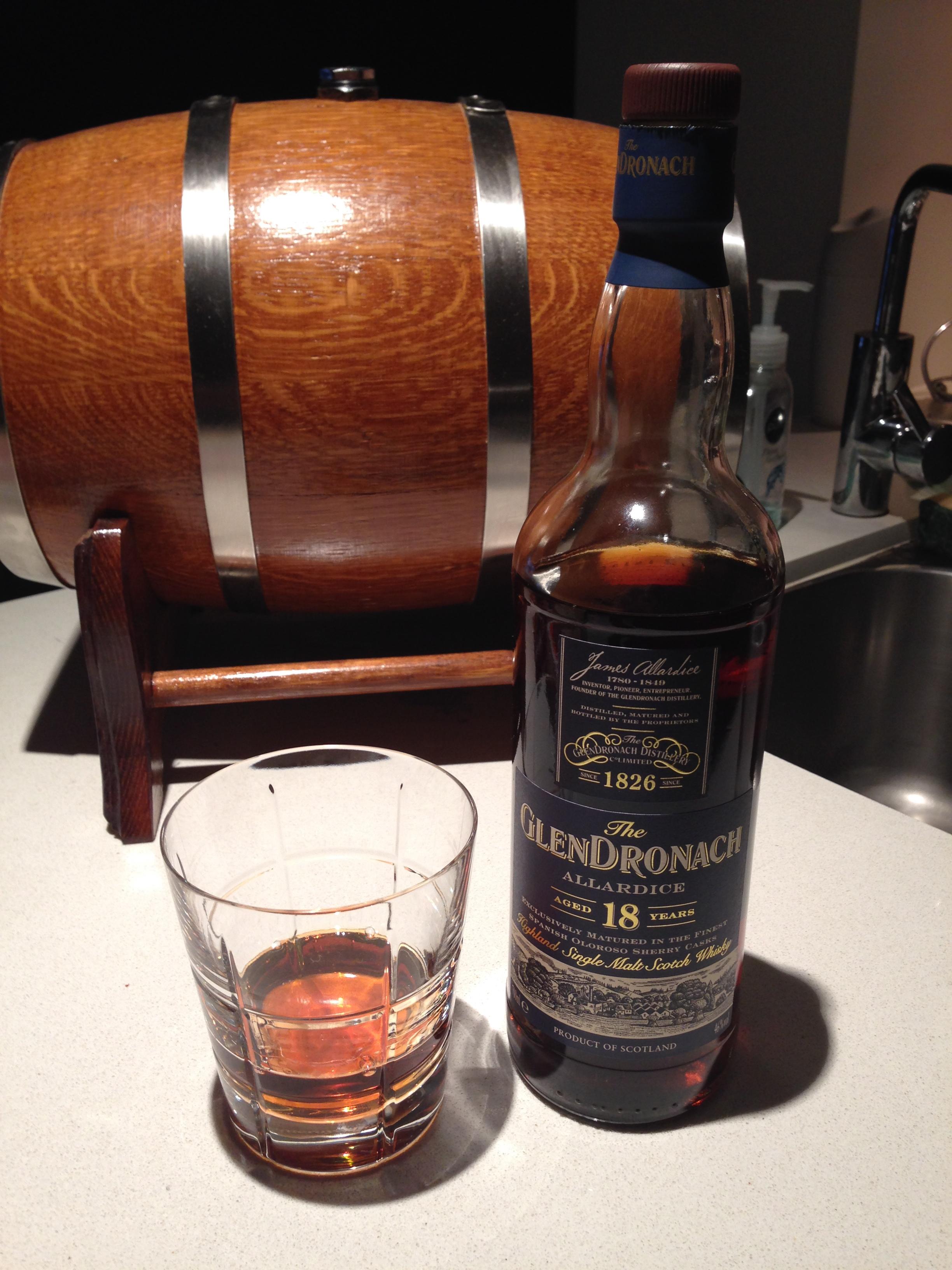 822727eb500 Whisky  164 - Glendronach Allardice 18 Year Old 100% Sherry Matured ...