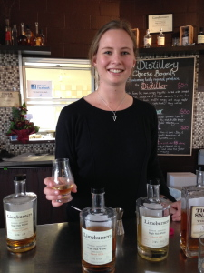 Whisky with a smile from the gorgeous Sarah at the Limeburners cellar door